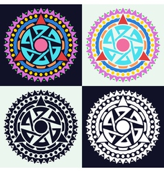Abstract circular pattern vector