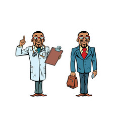 African doctor and businessman vector