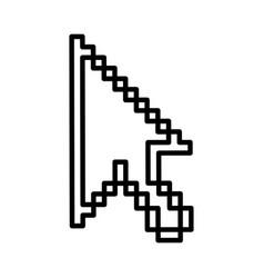 arrow mouse pointer icon vector image