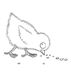 Cartoon image of chicken vector
