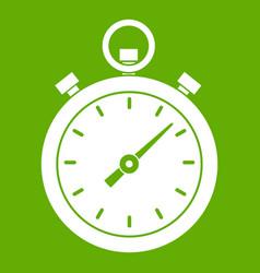 chronometer icon green vector image