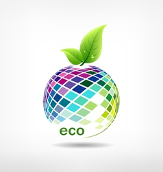 Colorful fruit ecology vector