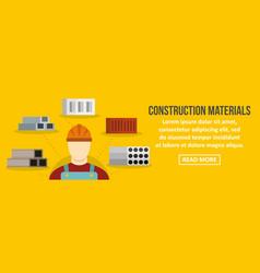 construction materials banner horizontal concept vector image