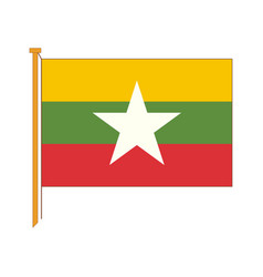 Detailed reproduction of the official flag myanmar vector