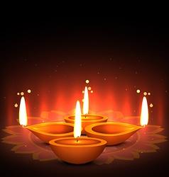 Festical of light diwali greeting vector