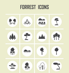 forrest icons vector image vector image
