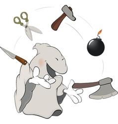 Ghost the juggler cartoon vector