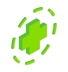 Green plus symbol in circle vector image vector image