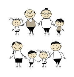 Happy family together - parents and children vector image vector image