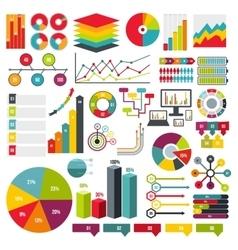 Infographics elements set flat vector image