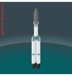 Isometric russian space rocket Angara vector image vector image