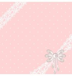 pink polka dot background vector image