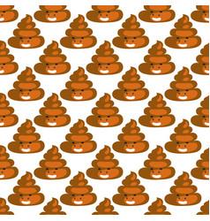 Poo emoji pattern poop fun seamless background vector