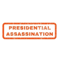 Presidential assassination rubber stamp vector