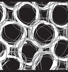 Scribble circles seamless pattern vector