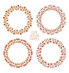 Set of watercolor autumn frames vector image vector image