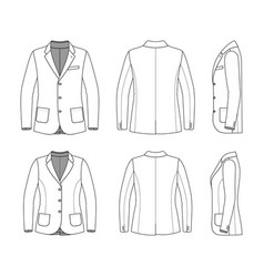 Simple outline drawing of a blazer vector