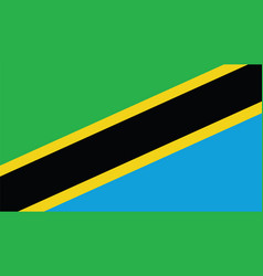 Tanzania flag for independence day and vector
