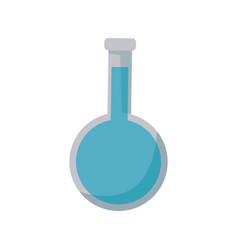 Test tube laboratory with blue liquid chemistry vector