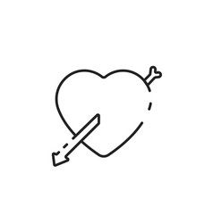 thin line love icon vector image vector image