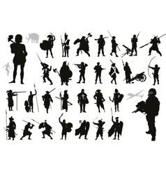 Warriors collection vector image