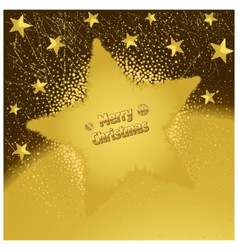 Gold christmas star vector
