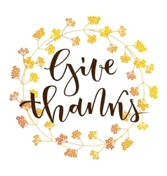 Give thanks greeting vector