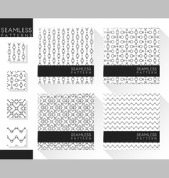 Set of abstract seamless patterns 5 vector