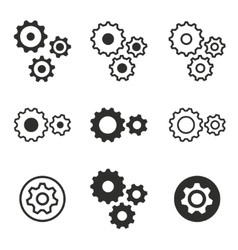 Settings icon set vector image
