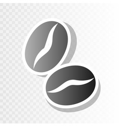 Coffee beans sign  new year blackish icon vector