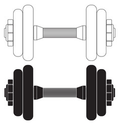 Dumbbell ico vector