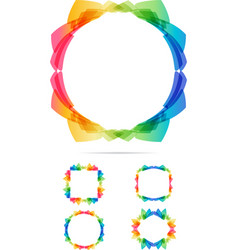 Colorful tech frames set vector