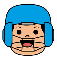 baseball player catcher avatar character vector image