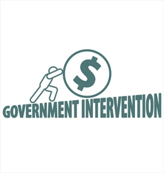 Economy and government intervention vector