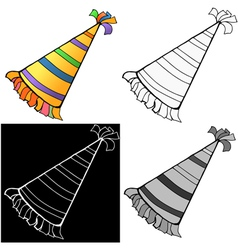 Birthday hat vector image