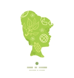 Environmental girl portrait silhouette pattern vector