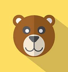 Modern Flat Design Bear Icon vector image