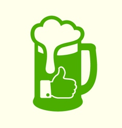 Green beer icon vector