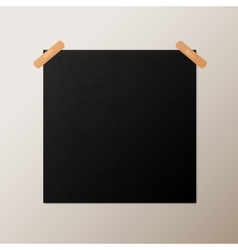 Black blank square poster mock-up template vector