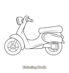 Scooter cartoon coloring book vector
