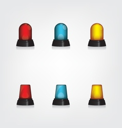 Emergency lights set vector
