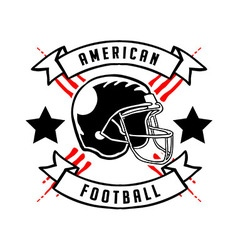 American Football Badge Hand Draw vector image