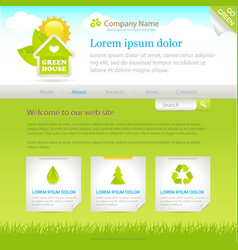 Green house web site design template vector