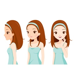 Girl with colour skin step vector