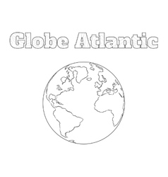 Globe atlantic view vector