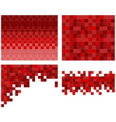 Square pixel mosaic background vector image