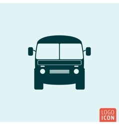 Mini bus icon vector