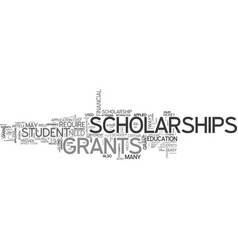 A guide to student grants and scholarships text vector