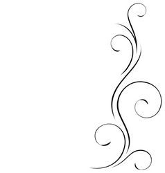 abstract swirly decoration vector illustration vector image vector image