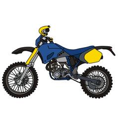 blue motocross bike vector image